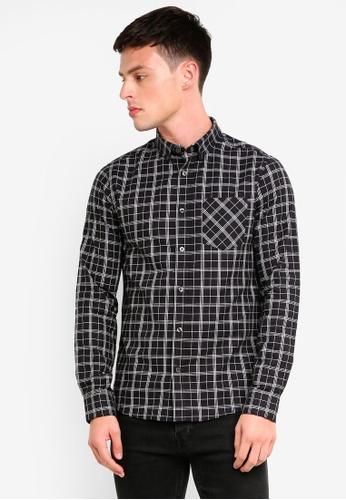 Burton Menswear London 黑色 格紋牛津襯衫 3D949AAD4008B6GS_1