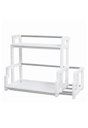 HOUZE HOUZE - 2 Tier Kitchen Dish Rack with Cutlery Holder and 4 Hooks D4914HL611F609GS_1