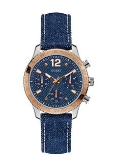 Guess Jam Tangan Wanita - Blue Silver Rosegold - Leather Strap - W1057L1  1521CACF793640GS 1 48001b8082