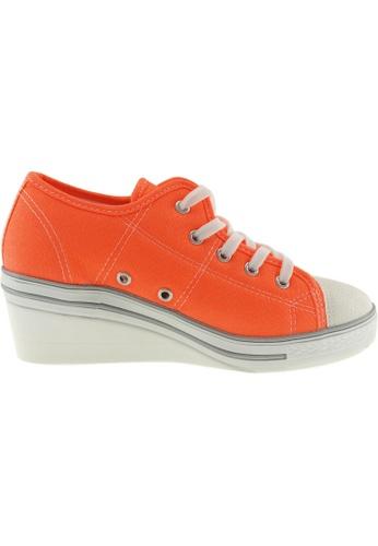 Maxstar Maxstar Women's ZL 5 Holes Canvas Low Wedge Heel Sneakers US Women  Size MA164SH13PXQSG_1
