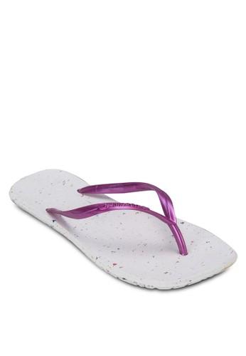 撞色人字帶zalora taiwan 時尚購物網鞋子拖鞋, 女鞋, 拖鞋