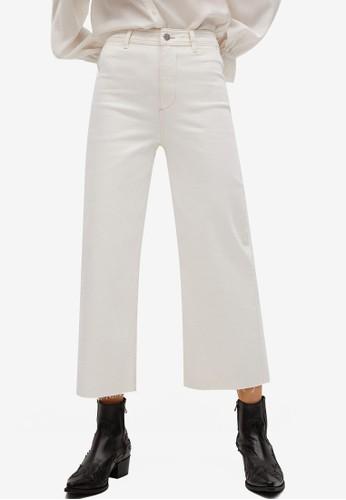 Mango white Raw Hem Flare Jeans 59776AAD0DB7B0GS_1