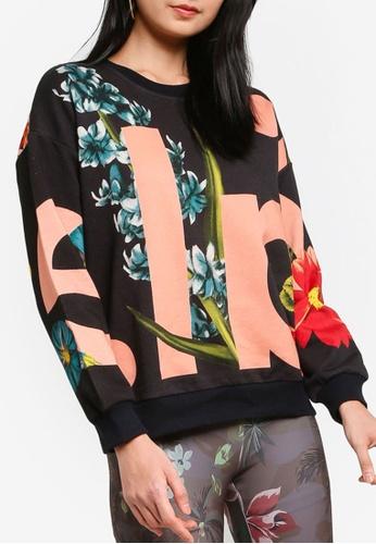 Desigual black Plush Flowers Sweatshirt AF469AADA7046AGS_1