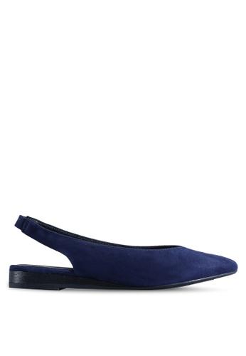 BETSY 海軍藍色 Julia 後繞帶平底鞋 A4C0DSHDDCDE44GS_1