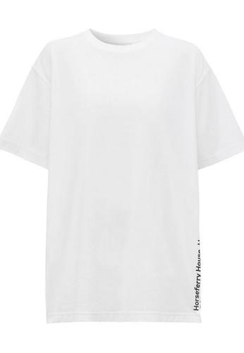 Burberry white Burberry Coordinates Print T-Shirt in White FA7BAAA68ED728GS_1
