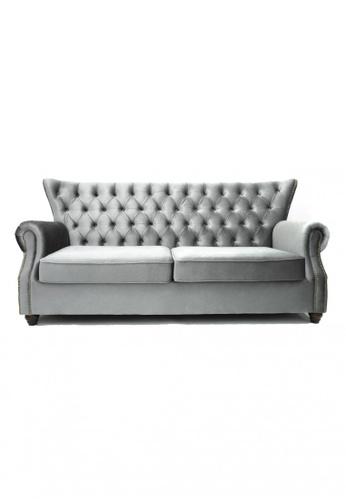 Choice Furniture grey Choice Furniture - Graham Chesterfield Sofa (Armchair) 2CE8BHL76C6F9BGS_1