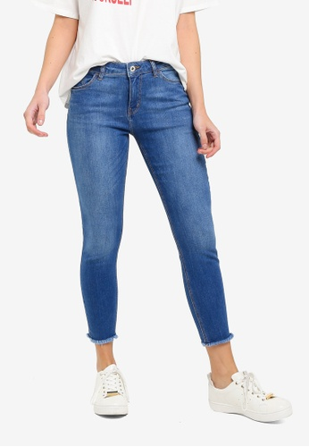 2b430b7302f Buy ESPRIT Frayed Denim Skinny Jeans Online on ZALORA Singapore