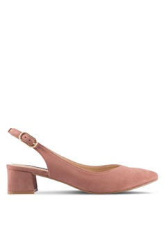 ZALORA brown Backsling Pointed Low Heels 92C89SHEDBEDBFGS_1