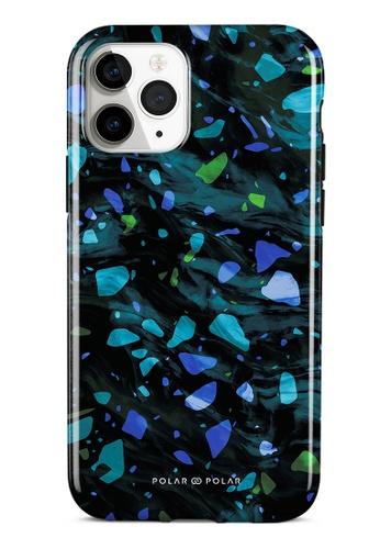 Polar Polar blue Ocean Terrazzo Gem Dual-Layer Tough Case Glossy For iPhone 11 Pro 2E372AC5FDFA31GS_1