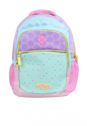 Smiggle multi Pastel Block Backpack B4208KC4BFA3BBGS_1