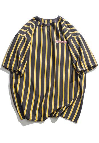 Twenty Eight Shoes Oversize Contrast Stripe T-shirt HH9062 22D43AABDC5BEDGS_1