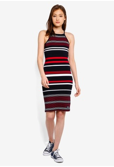 6f576c943d 41% OFF Superdry Strappy Stripe Midi Dress S$ 79.00 NOW S$ 46.90 Available  in several sizes · MISSGUIDED white Scuba One Shoulder Ruffle Bodycon ...