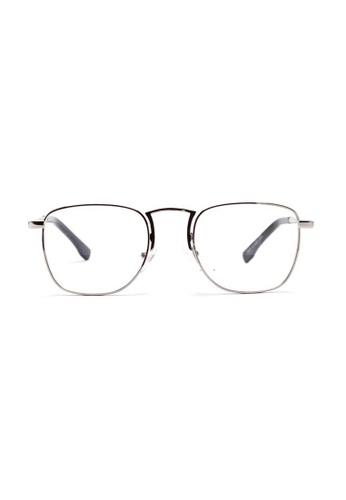 Kyfer's Eyewear & Essentials silver Rectangular College Metal Eyewear KY376AC68XKTSG_1