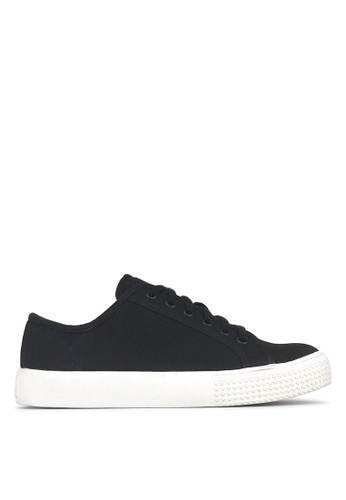 Betts black Vector Lace Up Sneakers AD956SHFA187D6GS_1