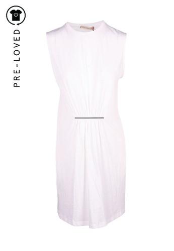 Christopher Kane white Pre-Loved christopher kane White Sleeveless Dress With Cinch Waist Hardware Detail 257C9AA41EBC96GS_1