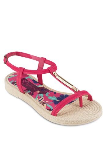 金飾T 字帶繞踝涼鞋, 女鞋, zalora 心得 ptt涼鞋