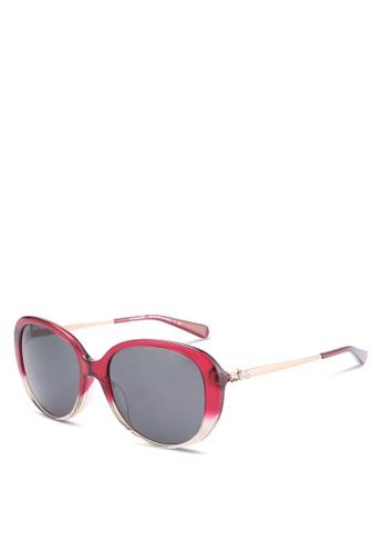 Coach red Oval HC8215F Sunglasses CO897GL86ZMFMY_1