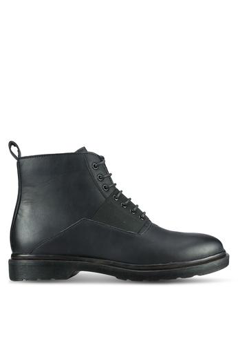 ZALORA black Contemporary Faux Leather Boots 7C220AA78524E2GS_1