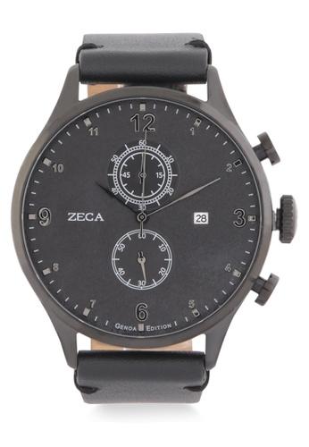 ZECA black Zeca Watches Men Fashion Leather Analog - 2017M Black ZE074AC0WDAKID_1