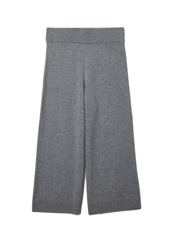 COS grey Recycled Cashmere Wide-Leg Trousers 6570EAA80EF9A9GS_1
