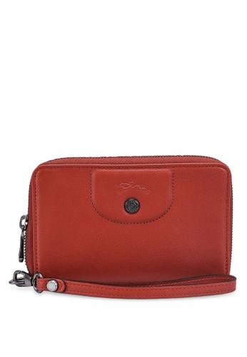 Longchamp brown Le Pliage Cuir Wallet DF9F5ACEF23A17GS_1