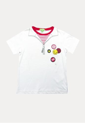 Bossini white Bossini Kids Boy T-Shirt Wht Pearl (43087609001) CC11BKA8DF0B95GS_1