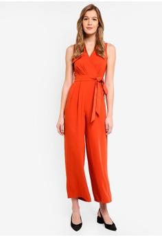 c2713c0bdb River Island orange Sleeveless Sophie Wide Leg Jumpsuit 27205AA50AD5FCGS 1
