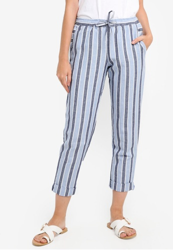 French Connection blue Serra Stripe Jogger 7EFDEAA5C64552GS_1
