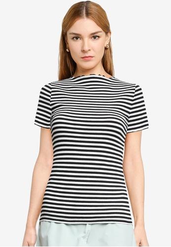 LOWRYS FARM white Striped Short Sleeves Tee 2A789AA184F714GS_1