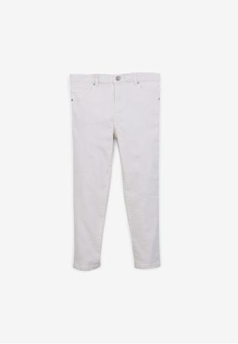 Gingersnaps white Boys Denim Pants With Chevron Embro D3845KA4667D5CGS_1