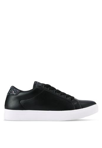 ZALORA black Glitter Detail Sneakers 786B1SH03DE281GS_1