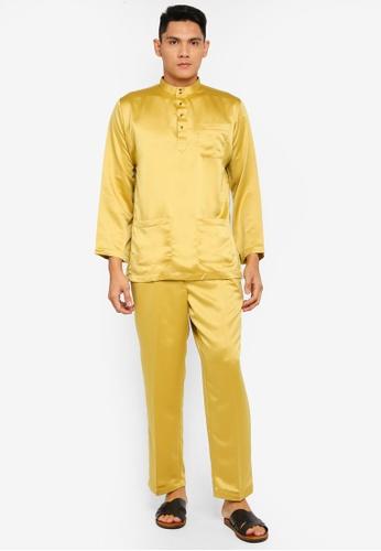 Gene Martino brown Tradisional Baju Melayu 164E0AAAC3DD01GS_1