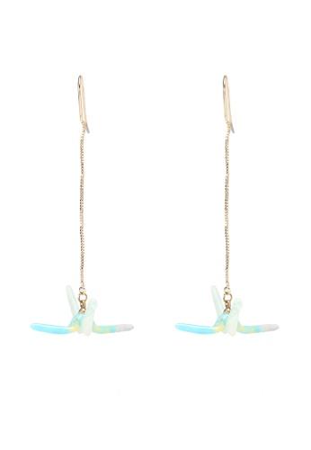 Saturation multi Resin Crane Bird Drop Earrings 2FA8DAC3110C0AGS_1