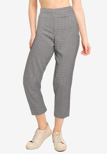 Miss Selfridge grey PETITE Grey Cigarette Trousers 1D396AAD212F00GS_1