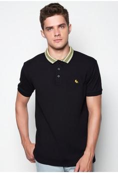 Polo Shirt with Printed Collar