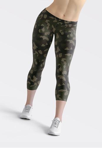 Ragaready black and green Capri Legging Army Net, Sport Wear D9B67AAB342727GS_1