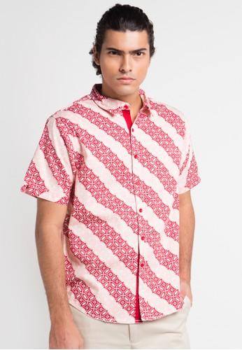 Contempo multi Men Shirt S/S Batik Family Collection CO339AA0UA1MID_1