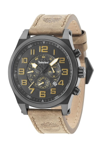 Timberland Watches brown Timberland Multifunction Gents Brown Leather Strap TBL.15247JSB/02 57177AC48994ABGS_1