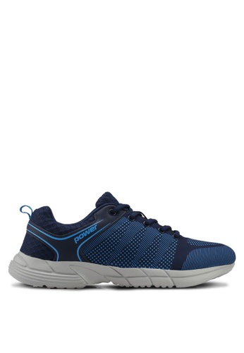 Power blue and navy Power Mens Running Shoes D4A70SH614C373GS_1