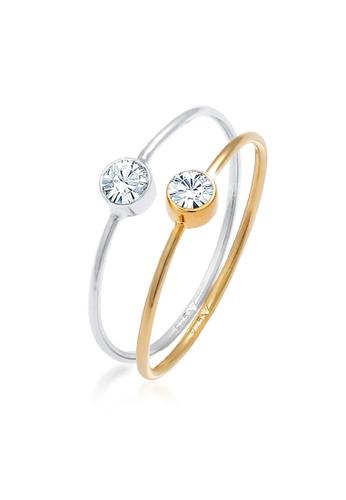 ELLI GERMANY multi Ring Set Crystals Solitaire DE722AC6E397AFGS_1