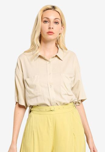 LOWRYS FARM beige Worker Shirt 765FDAA028EDACGS_1