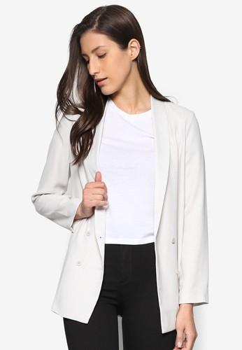 雙排鈕柔軟西裝外esprit台灣官網套, 服飾, 外套