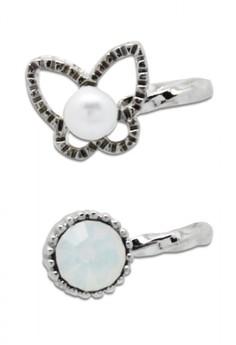 Butterfly ear cuff (silver)