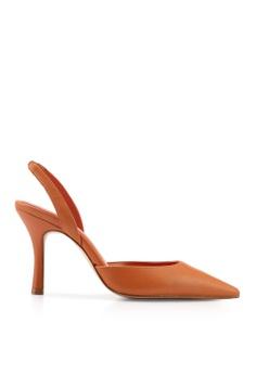 f8969b00f0d21a Mango brown Leather Heels F4FE5SHDB6AC95GS 1