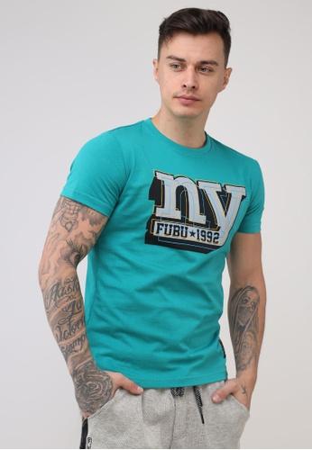 Fubu Boys green Round Neck Muscle Fit T-Shirt 7D8E4AA5B45004GS_1