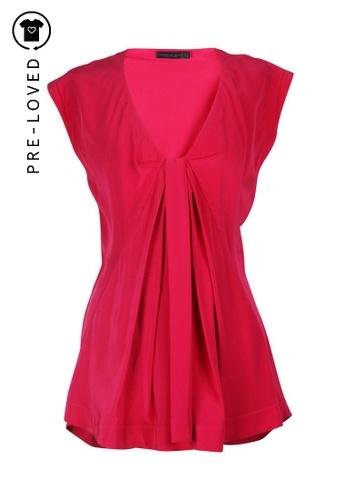 Donna Karan pink Pre-Loved donna karan Strawberry Silk Top C6C76AAD79E91AGS_1