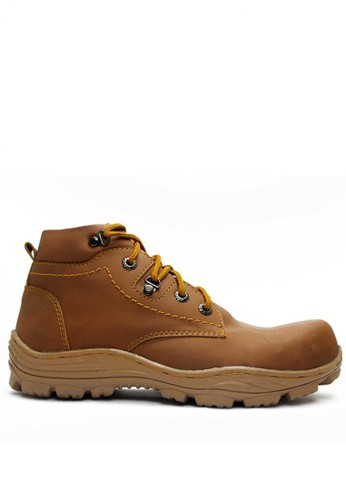 Cut Engineer brown Cut Engineer Safety Boots Iron Leather Royal Soft Brown CU226SH90VCJID_1