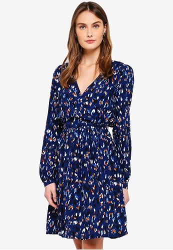 Vero Moda blue Sabby Wrap Dress 0B686AA685D015GS_1