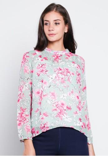 Novo green Blouse Floral 5874 8952EAA43415F5GS_1