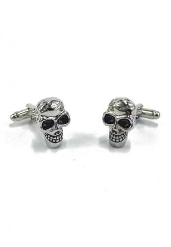 Splice Cufflinks silver Silver Skull Cufflinks SP744AC56EYPSG_1